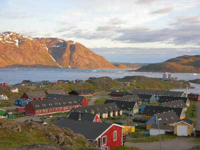 Udsigt over Narsaq by